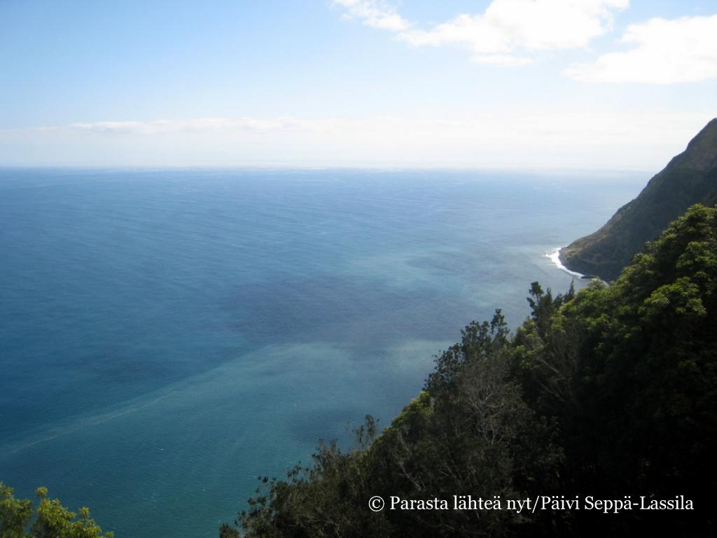 Sininen Atlanti Nordestessa; Miradouro Ponta do Sossego.