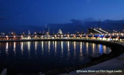 Ilta uudessa satamassa