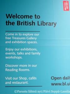 British Library toivottaa tervetulleeksi.