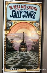 Erityisesti lapsille suunnattu näyttely perustuu Sally Jones -kirjaan.