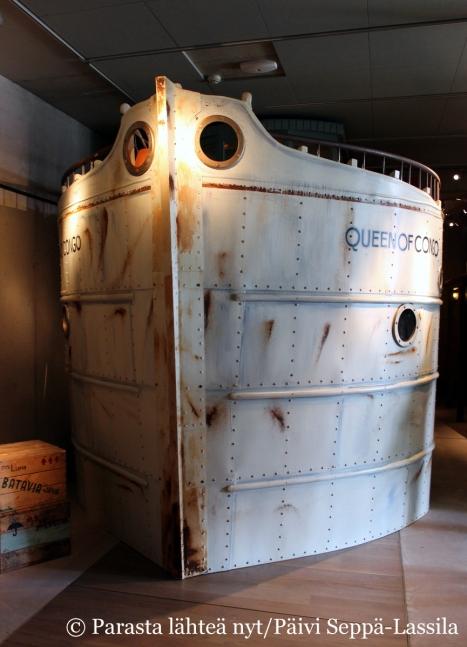 Laiva, jonka lapset saavat ottaa haltuunsa merenkulkumuseon Matkalla Chiiffin ja Sally Jonesin kanssa -näyttelyssä.