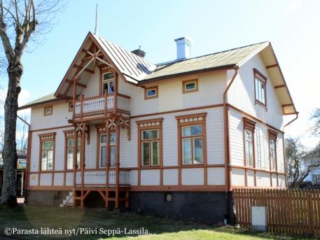 Hilda Hongellin suunnittelema talo.