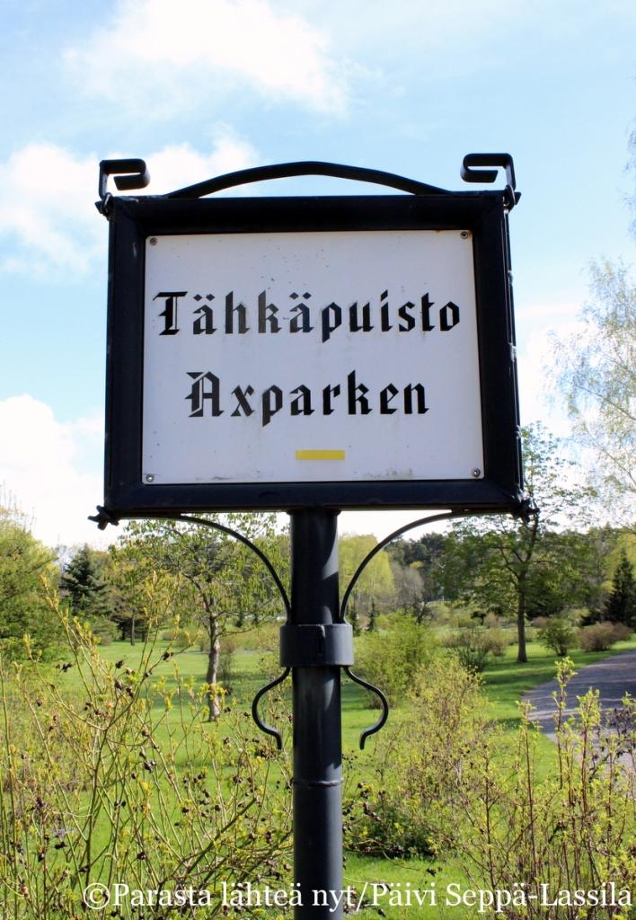 Tähkäpuisto, Axparken, tunnetaan myös nimellä Ruusupuisto.