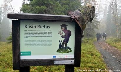 Riisitunturilla kerrotaan kummittelevasta miehestä, Riisin Riettaasta.