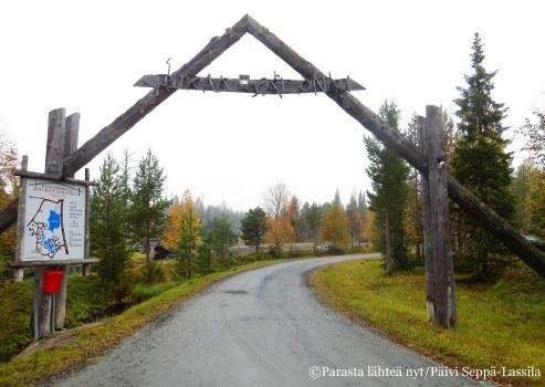 Rukan Salonki -alue sijoitttuu neljän kilometrin päähän Rukasta.