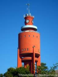 Arkkitehti Bertel Liljequistin suunnittelema Hangon vesitorni valmistui vuonna 1943.
