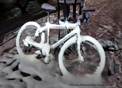 Lunta satoi sopivasti joulukadun avajaisiin vuonna 2014.