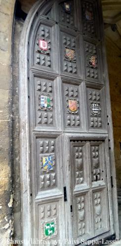 Bodleian-kirjaston ovi.