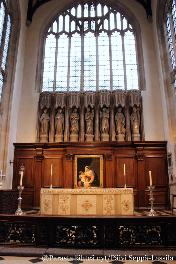 University Church of St Mary the Virgin -kirkon alttari.