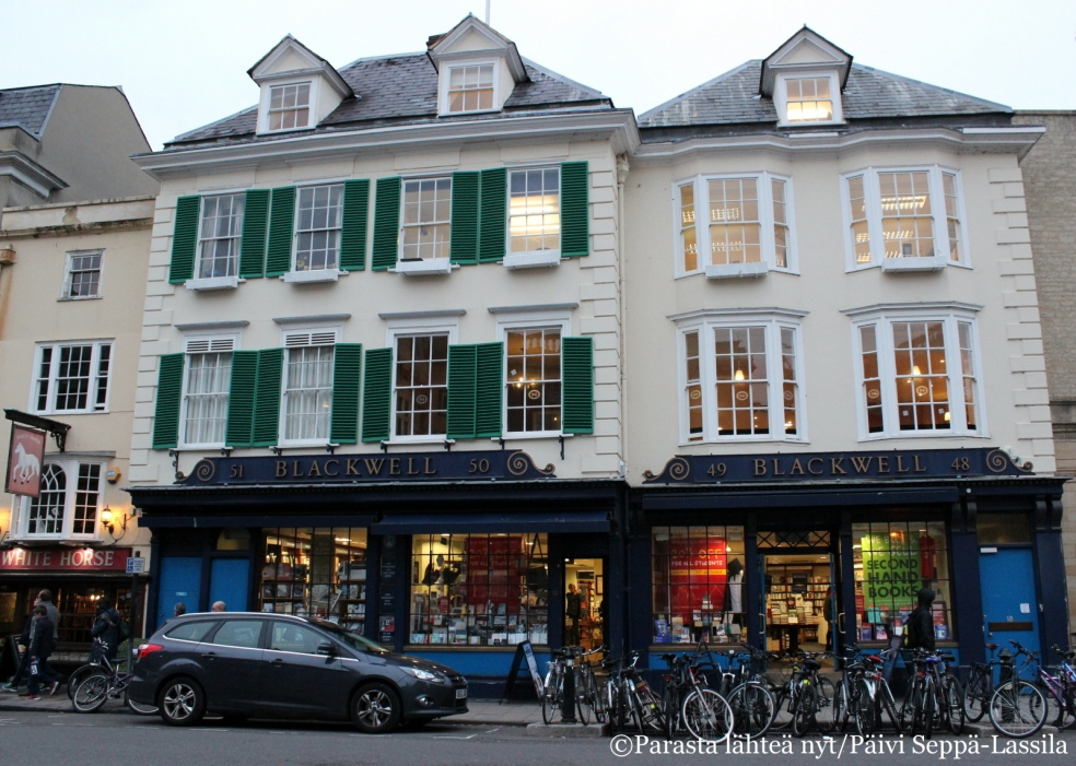 Blackwell´s-kirjakauppa Broad Streetillä Oxfordissa.