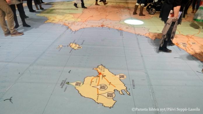 Kävele kartalla.