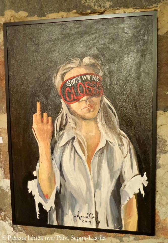 Teos Johanna Oraksen nuoren tytön kasvua kuvaavasta sarjasta