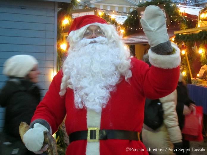 Joulupukki ehti vierailemaan Turussakin ainakin vuoden 2013 joulukuussa.