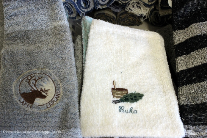 Logollisia pyyhkeitä-