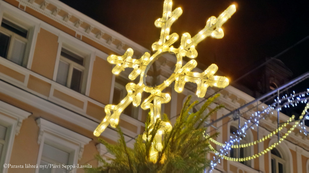 Joulukatu Turussa.