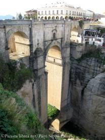 Silta on rakennettu 120 metriä syvän El Tajo -rotkon yli.