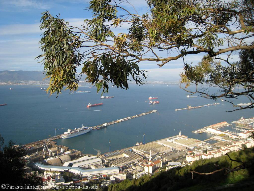 Näkymä Gibraltarinsalmelle.
