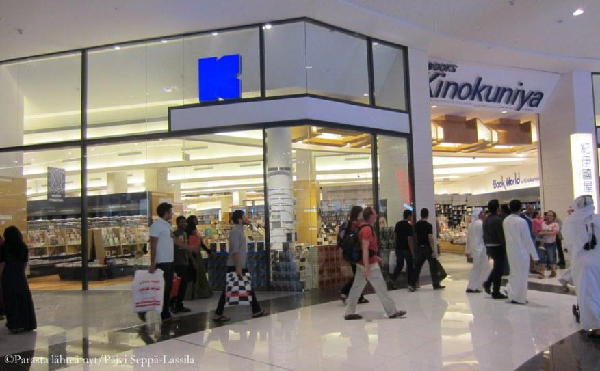 Kinokuniya-kirjakauppa Dubai Mallissa.