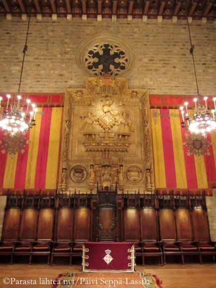 Barcelonan kaupungintalo.