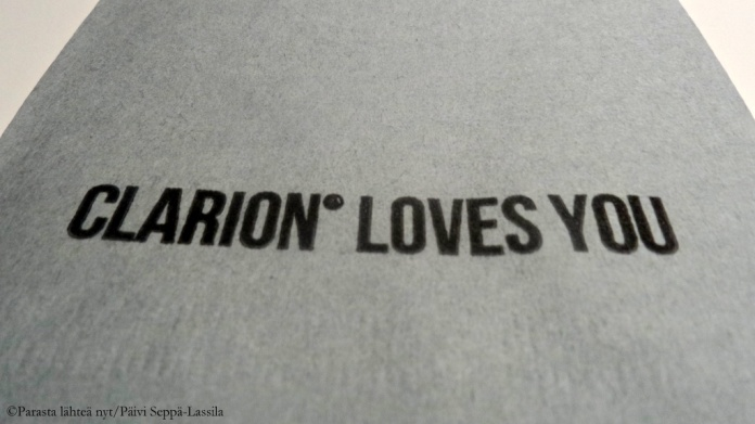 Clarion loves you.