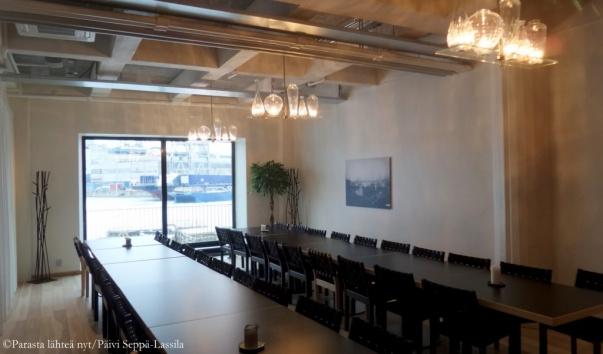 Kitchen & Table -ravintolan kabinetti.