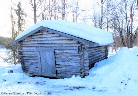 78. Talvista maisemaa Levillä.