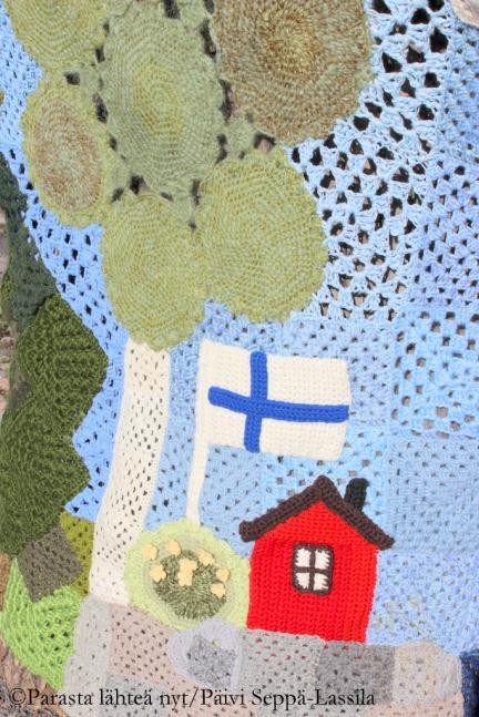 79. Knit'n' Tag -tapahtuman taideteos, Turku.