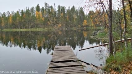 Järvimaisema Kuusamossa.