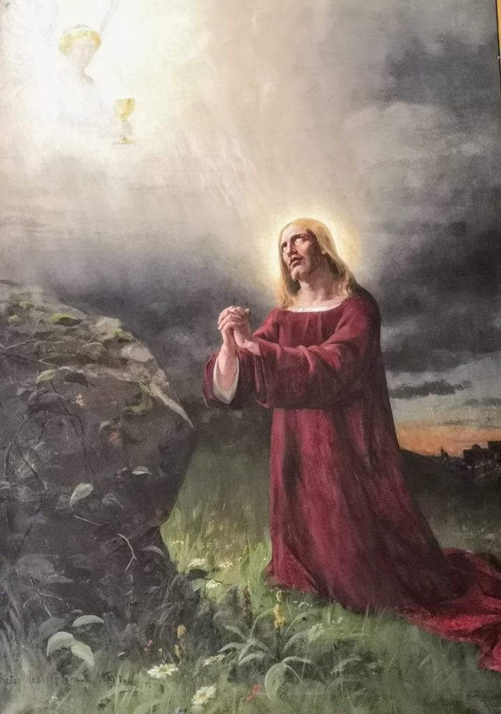 Alttaritaulu, Kristus Getsemanessa