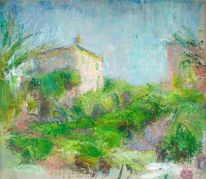 Sigrid Schamanin maalaus Villa Aurelia.