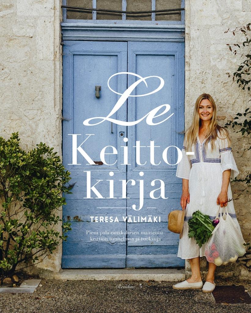 Teresa Välimäen tekemän Le Keittökirjan kansi.